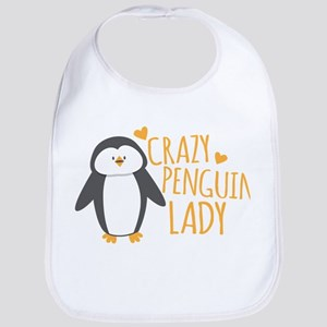 Crazy Penguin Lady Bib