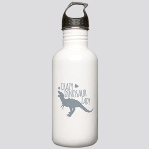 Crazy Dinosaur Lady Stainless Water Bottle 1.0L