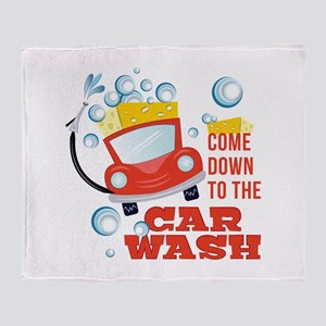 The Car Wash Throw Blanket