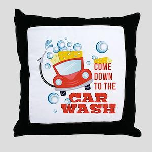 The Car Wash Throw Pillow