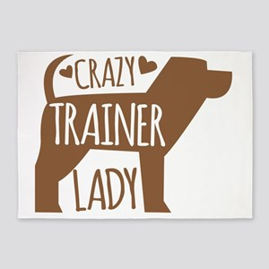 Crazy (DOG) TRAINER lady 5'x7'Area Rug