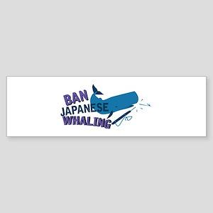 Ban Whaling Bumper Sticker