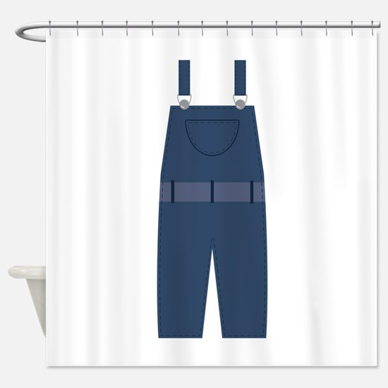 Overalls Shower Curtain
