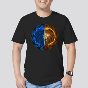 Mirror Universe Men's Fitted T-Shirt (dark)