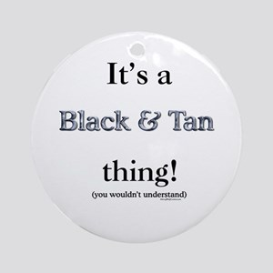 Black & Tan Thing Ornament (Round)