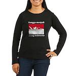 Indonesian Pride Women's Long Sleeve Dark T-Shirt