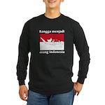 Indonesian Pride Long Sleeve Dark T-Shirt