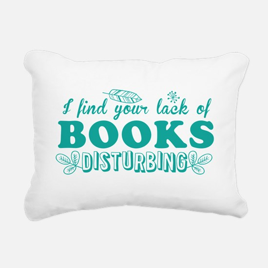 I find your lack of BOOK Rectangular Canvas Pillow