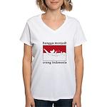 Indonesian Pride Women's V-Neck T-Shirt
