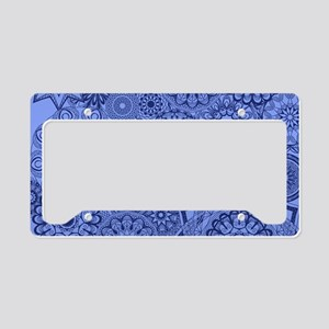 Snowflakes Blue License Plate Holder