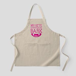 My bite is worse than my BARK Apron