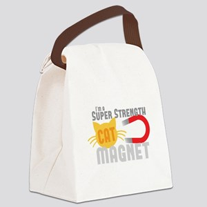 I'm a SUPER strength CAT MAGNET Canvas Lunch Bag