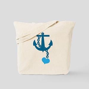 Blue anchor cute Tote Bag