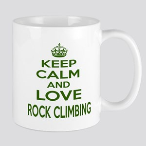 Keep calm and love Rock Climbing 11 oz Ceramic Mug