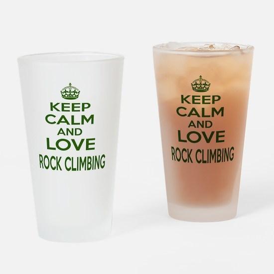 Keep calm and love Rock Climbing Drinking Glass