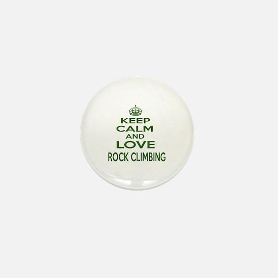 Keep calm and love Rock Climbing Mini Button