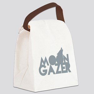 MOON GAZER with wolf howling at t Canvas Lunch Bag