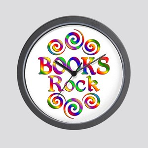 Colorful Books Rock Wall Clock