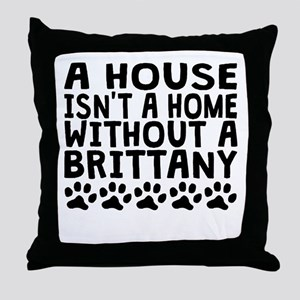 Without A Brittany Throw Pillow