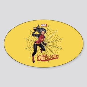 Spider-Woman Web Sticker (Oval)