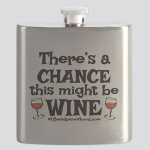 MIGHT BE WINE Flask