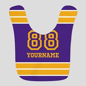 Purple and Yellow Stripes Personalized Bib