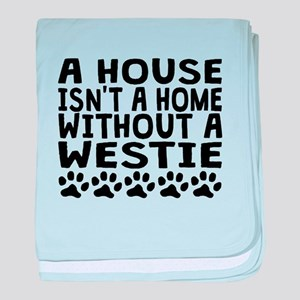 Without A Westie baby blanket