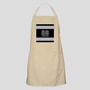 Black and Silver Gray Stripes Personalized Apron