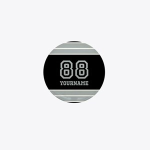 Black and Silver Gray Stripes Personal Mini Button