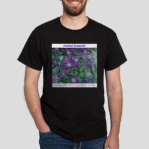 PURPLE CLEMATIS PAINTING Dark T-Shirt