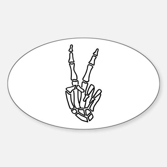 Peace skeleton hand sign Decal