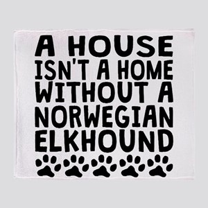 Without A Norwegian Elkhound Throw Blanket