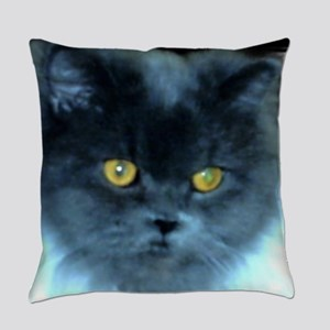 Exotic Blue Persian Cat Everyday Pillow
