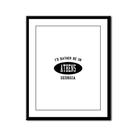 I'd Rather Be in Athens, Geor Framed Panel Print