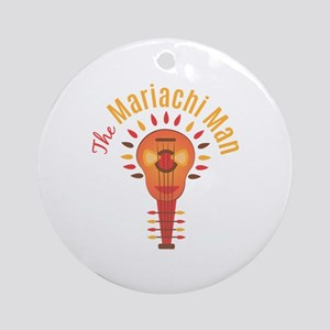 Mariachi Man Round Ornament