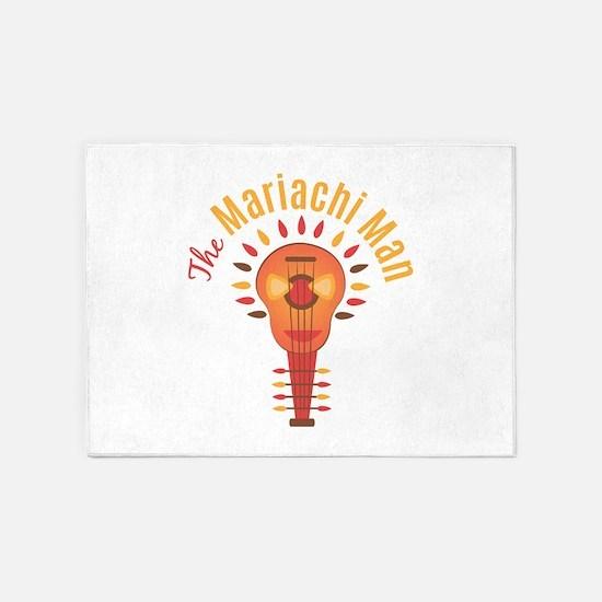 Mariachi Man 5'x7'Area Rug