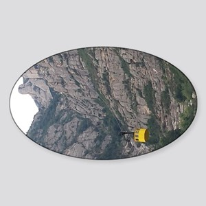Little Yellow Cableway Sticker (Oval)