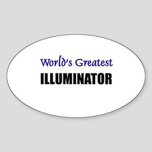 Worlds Greatest ILLUMINATOR Oval Sticker
