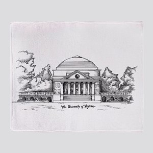 Rotunda Ink Sketch Throw Blanket