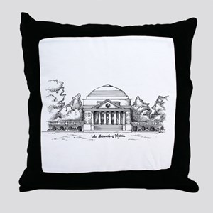 Rotunda Ink Sketch Throw Pillow