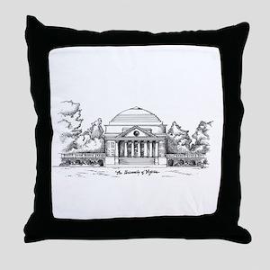 Rotunda Ink Sketch Throw Pillow