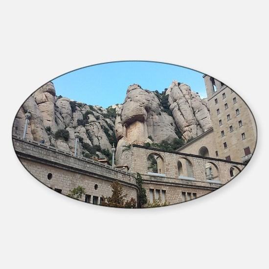 Cute Montserrat Sticker (Oval)