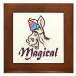 Magical Unicorn Framed Tile
