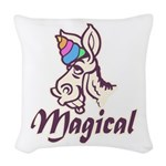 Magical Unicorn Woven Throw Pillow