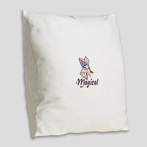 Magical Unicorn Burlap Throw Pillow