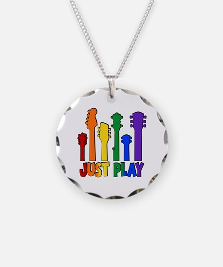 JUST PLAY Necklace Circle Charm