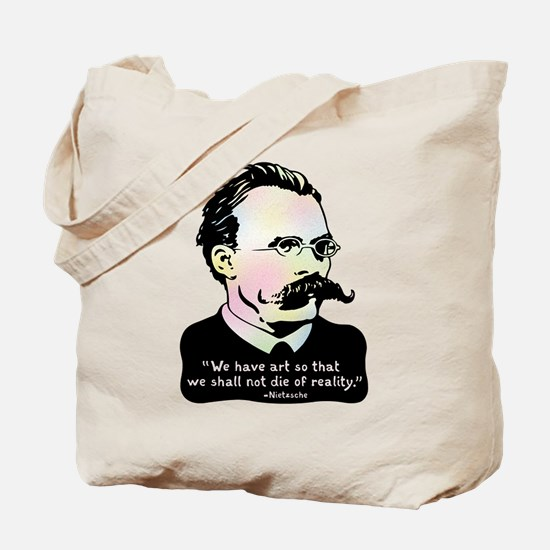 Nietzsche - Art v. Reality Tote Bag