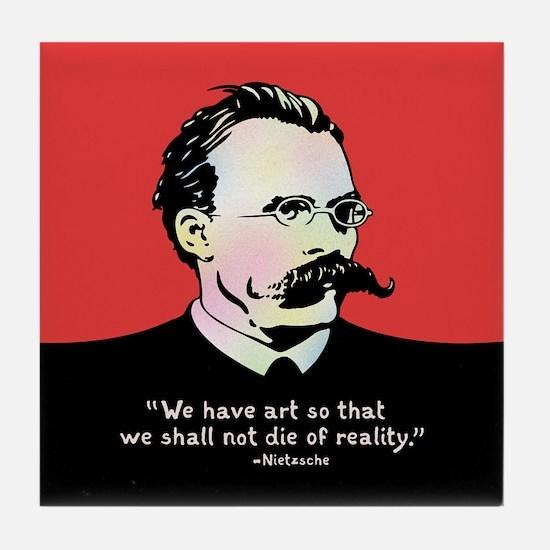 Nietzsche - Art v. Reality Tile Coaster