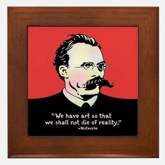 Nietzsche - Art v. Reality Framed Tile