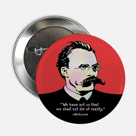 """Nietzsche - Art v. Reality 2.25"""" Button"""